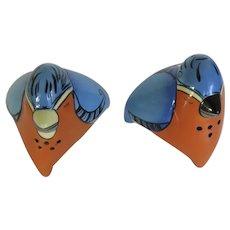 Vintage Terri Kern Designs Salt Pepper Shakers Birds