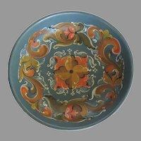 Vintage Older Painted Folk Art Scandinavian Norwegian Rosemaling Bowl