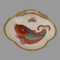 Vintage Mottahedeh Shaped Fish Koi Carp Bowl Chinese Export