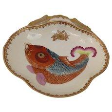 Vintage Mottahedeh Shaped Fish Koi Carp Bowl Chinese Export