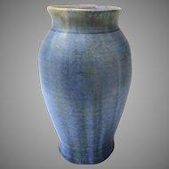 Pisgah Forest Vase with Crystalline Glaze Blues Signed 1940's