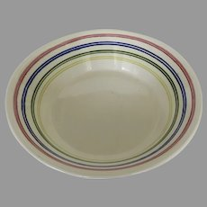 Vintage Royal China Co.Large Ceramic Bowl Retro Primary Color Striped Mixing Display Fruit Bowl Mid Century Style Kitchen Decor