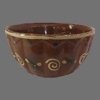 "Vintage Mexican Pottery Bowl  Tlaquepaque 8"" Rustic Country Folk Art"
