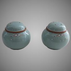 Vintage Noritake Stoneware Boulder Ridge Salt and Pepper Native American Southwest Motif