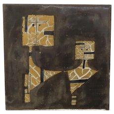 Vintage Signed Dated  Bruno Capacci Tile
