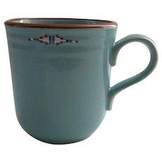 Vintage Noritake Stoneware Boulder Ridge Coffee Cup Mug Native American Southwest Motif