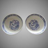 2 x Cereal Fruit Bowl Oiseau Bleu (Fruit) by GIEN France AS IS