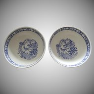 2 x Cereal Fruit Bowl Oiseau Bleu (Fruit) by GIEN France AS IS