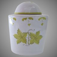Vintage Italian Italy Faience Tea Caddy Canister