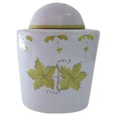 Vintage Italian Italy Faience Tea Caddy Canister