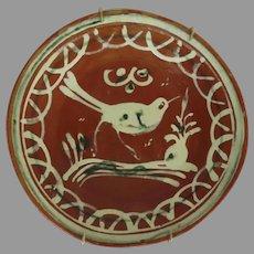 """Bandera"" Mexican Pottery Plate Bird Motif"
