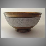 English Copper Luster Bowl with White Band c 1825