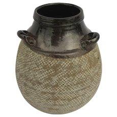 Large Mid-century Porcelain Pot by Ed Oshier Modern Studio Art Pottery