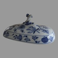 Vintage Lid for Meissen Blue Onion Casserole Tureen Cover