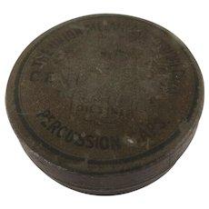 Old Round Tin Union Metallic Cartridge Co.  Bridgeport, Conn. USA  F.C. - Central Fire Percussion Caps