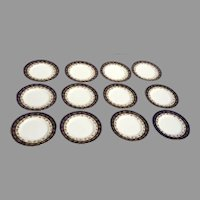 12 x Arundel Blue (Scalloped) by ROYAL WORCESTER Bread and Butter