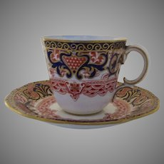 Vintage Royal Crown Derby English Imari Demitasse Cup and Saucer