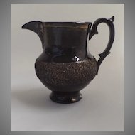 "English Copper Luster Pitcher with Sand Border 5"" Late 19th Century"