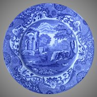 "Older Mark Spode Copeland Blue and White Italian England 9"" Plate Salad Dessert"