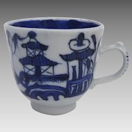 Chinese Canton Teacup Small 19th Century Blue and White