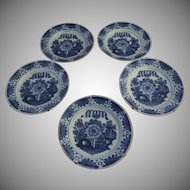 Early 19th Century Delft Blue & White Plate 10""