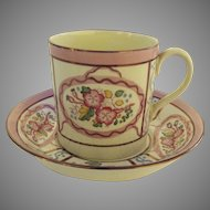 Vintage Wedgwood Pink Luster Cup and Saucer Etruria