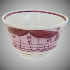 19th Century Handless English Pink Luster Cup