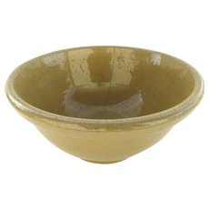 """Vintage Yellow Ware Bowl by Bauer 9 1/4"""" Diameter"""