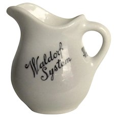 Vintage Hotel Waldorf Systems Jackson China Pitcher Creamer 1920's