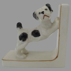 Charming Vintage Ceramic Dog Puppie Bookend Made in Japan (A)