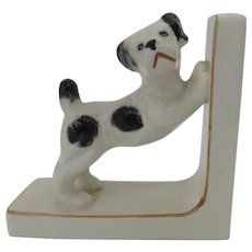 Charming Vintage Ceramic Dog Bookend Made in Japan