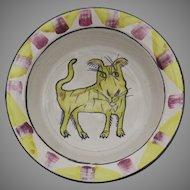 Suki Diamond Studio Designer Stoneware Majolica Art Pottery Sonoma County California Artist Signed Bowl