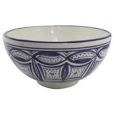 Vintage Le Souk Ceramique Stoneware Bowl Tunisia