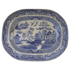 Blue Willow Transfer Ware Large Platter