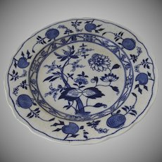 Vintage Blue Meissen England Blue and White Plate