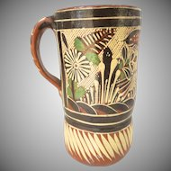 Vintage Mexican Tonala Pottery Pitcher Petatillo Tlaquepaque