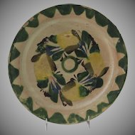 Vintage Mexican Pottery Glazed Plate