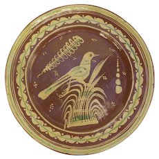 """Bandera Mexican Pottery Large Charger with Bird 13 3/4"""""""