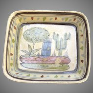 Vintage Mexican Pottery Small Bowl