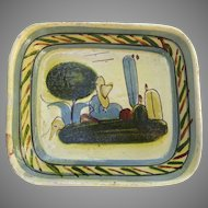 Vintage Handcrafted Mexican Pottery Bowl