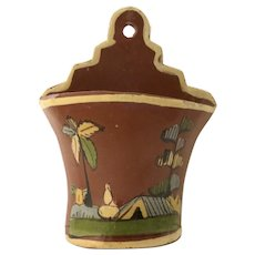 Vintage Mexican Pottery Wall Pocket Planter Mexico