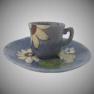Vintage Mexican Tonala Pottery Cup and Saucer