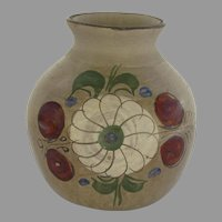 Vintage Mexican Pottery Small Vase Pot Hand-Painted
