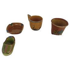 Group of 5 x Vintage Folk Art Painted Mexican Pottery