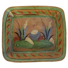 Vintage Mexican Pottery Tlaquepaque Mexican Pottery Bowl Folk Art Jalisco Mexico Desert Scene