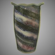 Tall Slab Pottery Vase by Jim Robinson