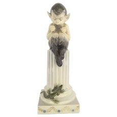 Royal Copenhagen Pan Satyr Faun with Lizard Figurine # 433