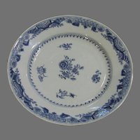18th Century Chinese 'Blue & White' Export Plate