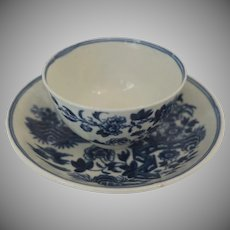 Early Worcester Porcelain Tea Bowl Dr. Wall Period