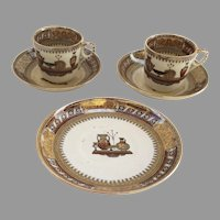 Cups and saucers Etruscan Vases by Bates Walker c 1870